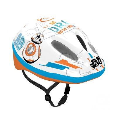 Casque vélo enfant Disney V2 Starwars avec molette de réglage blanc/bleu/orange (taille 54-58)