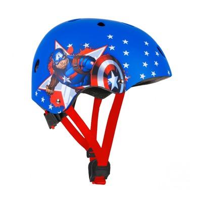 Casque vélo enfant Disney V3 Capitain América avec molette de réglage (taille 54-58)