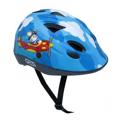 Casque vélo enfant Junior GES Avion bleu (taille 47-53)
