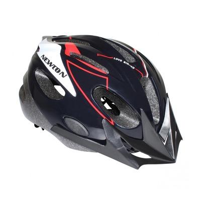 Casque vélo enfant Junior Newton Crossrider noir/rouge (taille 53-55)