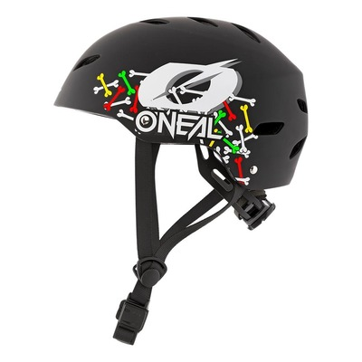 Casque vélo enfant O'Neal Dirt Lid Skulls noir/multicolore