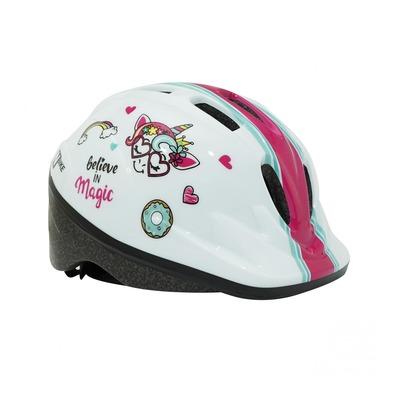 Casque vélo enfant N Bike blanc/rose (taille 48-54)