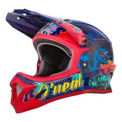 Casque vélo intégral enfant O'Neal Sonus Rex multicolore/rouge/bleu brillant