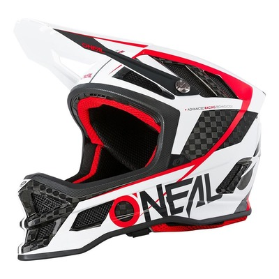 Casque vélo intégral O'Neal Blade Carbon IPX® GM blanc/rouge/carbone