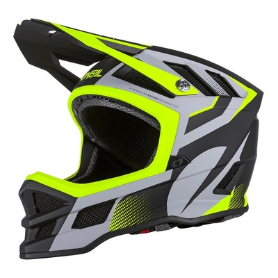 Casque vélo intégral O'Neal Blade Hyperlite IPX® Oxyd gris/jaune fluo