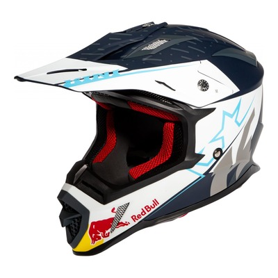 Casque cross Kini Red Bull Division night sky noir/blanc