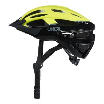 Casque vélo O'Neal Outcast Split V.22 noir/jaune fluo brillant