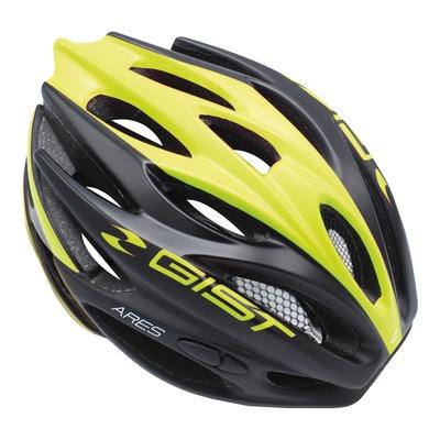 Casque vélo route adulte Gist Ares noir mat et jaune fluo