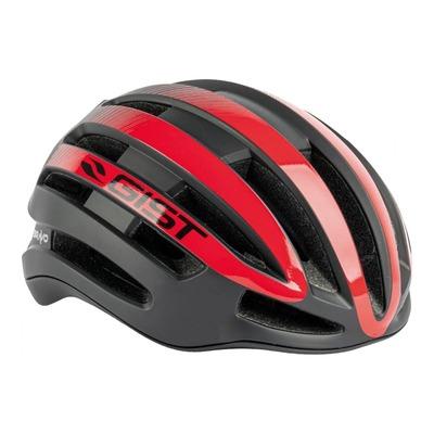 Casque vélo route adulte Gist Bravo noir et rouge