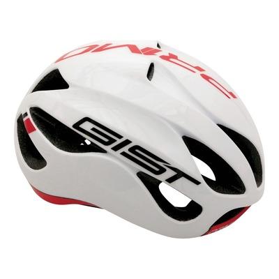 Casque vélo route adulte Gist Primo blanc et rouge