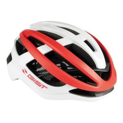 Casque vélo route adulte Gist Sonar blanc et rouge