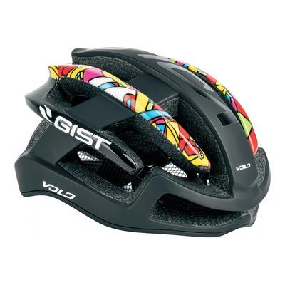 Casque vélo route adulte Gist Volo noir pop art