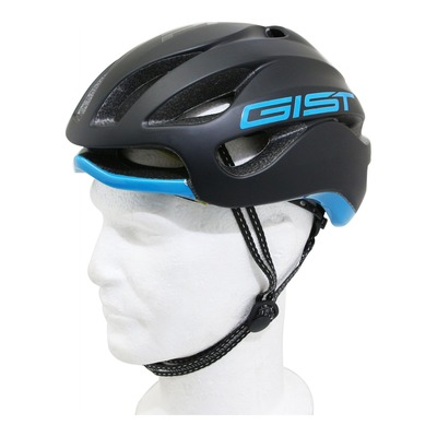 Casque vélo route Gist Primo noir mat/bleu sky (taille 52-57)