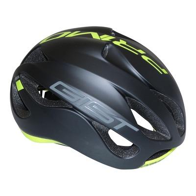 Casque vélo route Gist Primo noir mat/jaune fluo