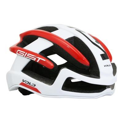 Casque vélo route Gist Volo blanc/rouge