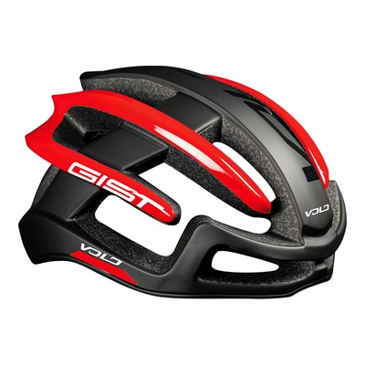 Casque vélo route Gist Volo noir mat/rouge brillant