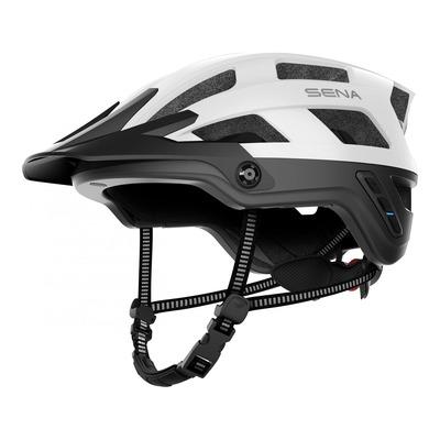 Casque vélo Sena M1 EVO Mesh Intercom™ intégrée blanc mat