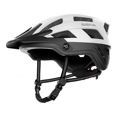 Casque vélo Sena M1 intercom Bluetooth® intégrée blanc mat