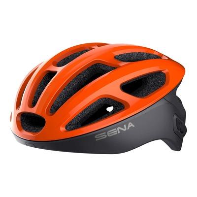 Casque vélo Sena R1 intercom Bluetooth® intégrée tangerine électrique