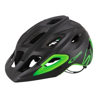 Casque vélo VTT/Enduro Ges Summit noir/vert (taille 55-61)