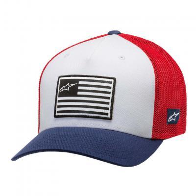 Casquette Alpinestars Flag hat blanc/bleu/rouge