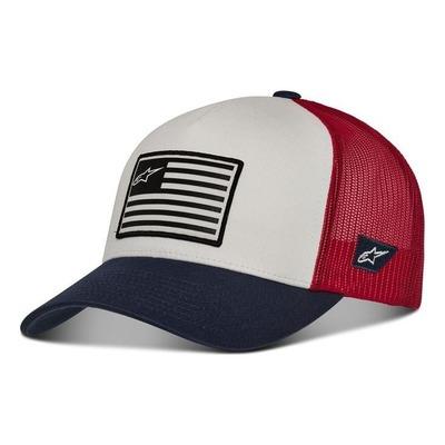 Casquette Alpinestars Flag Snapback blanc/navy/rouge