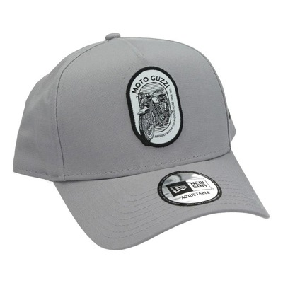 Casquette baseball Moto Guzzi New Era 9Forty gris