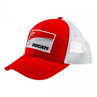 Casquette Baseball Trucker Ducati Racing blanc/rouge