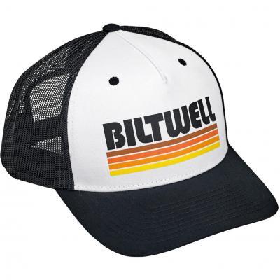 Casquette Biltwell Surfer Snap Back noir/blanche/orange