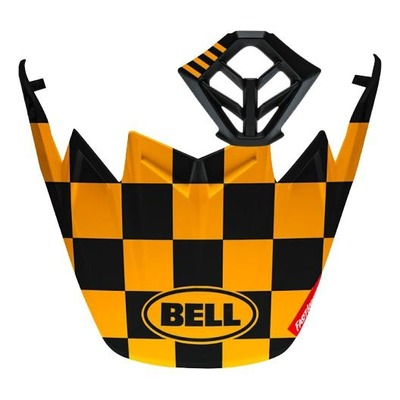 Casquette de casque cross Bell Moto-9 Checkers noir/jaune mat