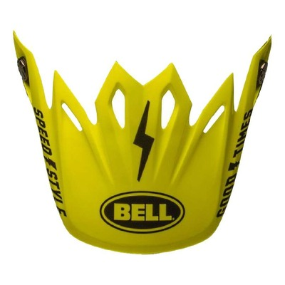 Casquette de casque cross Bell Moto-9 Flex Fasthouse noir/jaune fluo