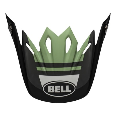 Casquette de casque cross Bell Moto-9 Flex Prophecy noir/dark vert mat