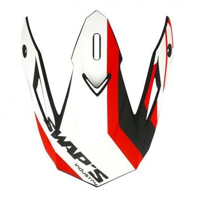 Casquette de casque Swaps S818 blanc/rouge