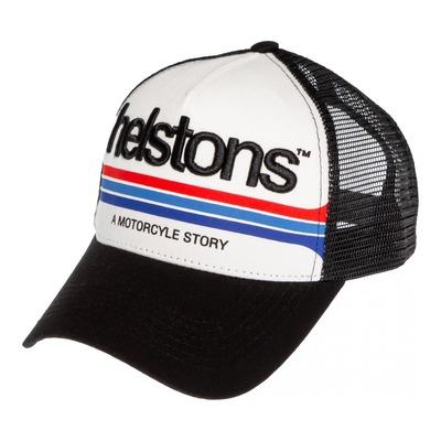 Casquette Helstons Mora noir/blanc/noir