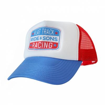 Casquette Ride And Sons RACING TRUCKER bleu/blanc/rouge
