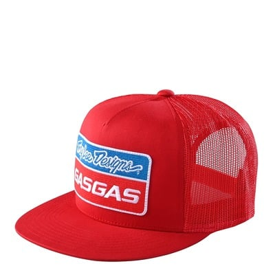 Casquette Snapback Troy Lee Designs Gas Gas Stock rouge