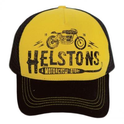 Casquette Trucker Helstons Café Racer jaune/noir/noir