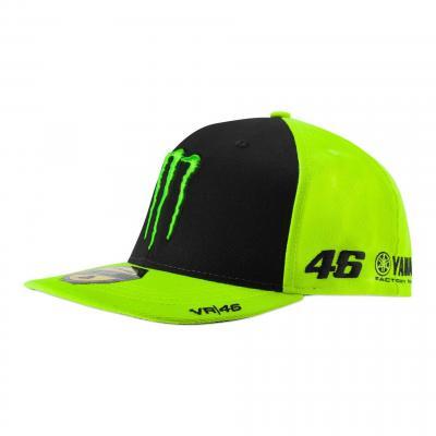 Casquette VR46 Monster on track sponsor jaune fluo/noir