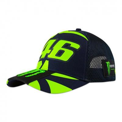 Casquette VR46 Monster Replica trucker mesh bleu 2020