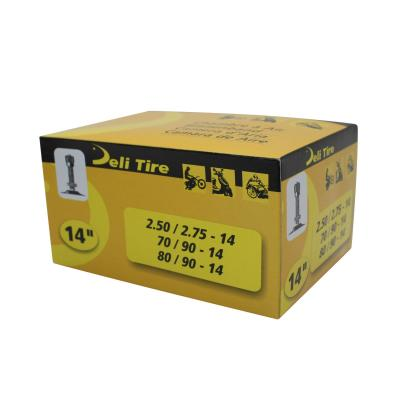 Chambre à air 14'' Deli standard à visser tr-4 pour pneu 80/80x14