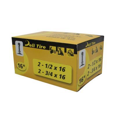 Chambre à air 16'' Deli standard droite à visser tr-4 pour pneu 2 1/2x16 à 2 3/4x16