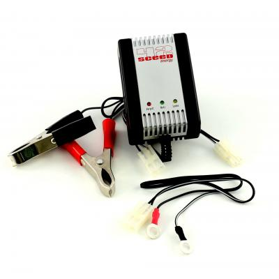 Chargeur batterie 1Tek Origine AL 800 2V, 6V, 12V, 0,8A. Cable maintien de charge fournit.