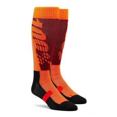 Chaussettes 100% Hi-side Performance bordeau/orange