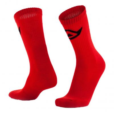 Chaussettes Acerbis en coton rouge