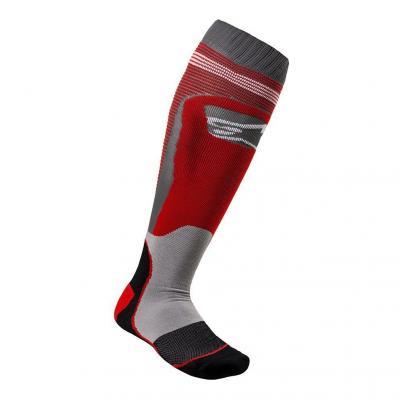 Chaussettes Alpinestars Mx Plus-1 rouge cool/gris