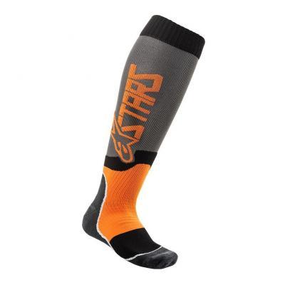Chaussettes Alpinestars Mx Plus-2 cool gris/orange fluo