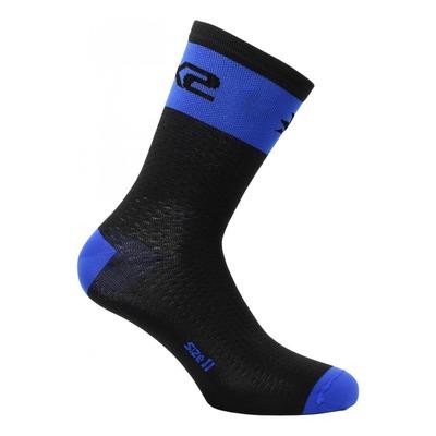 Chaussettes hautes Sixs Short Logo bleu