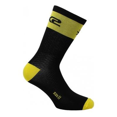 Chaussettes hautes Sixs Short Logo jaune