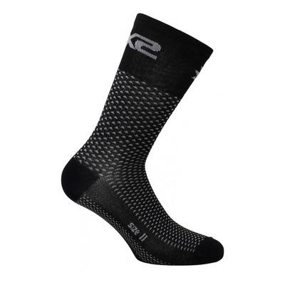 Chaussettes hautes Sixs Short Logo noir carbon