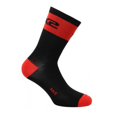 Chaussettes hautes Sixs Short Logo rouge